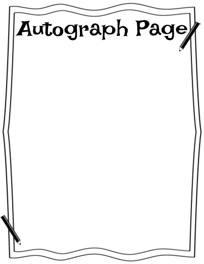 graphic relating to Printable Autograph Book for Students called Conclusion of the 12 months memory guide