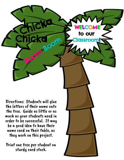 image relating to Chicka Chicka Boom Boom Tree Printable called Chicka Chicka Increase Growth - Letter/Popularity Match