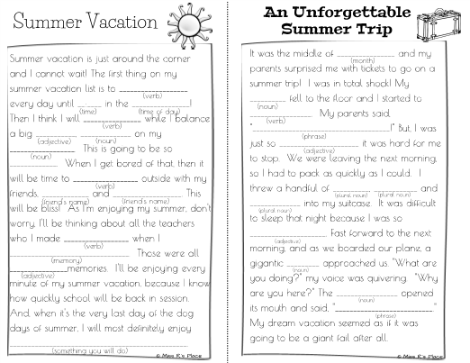 essay on summer season for children