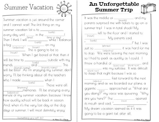essay on summer season for children