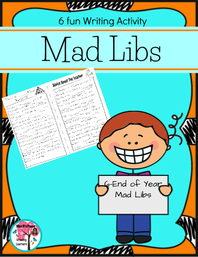 Of Year Mad Libs For Kids Writing Activity