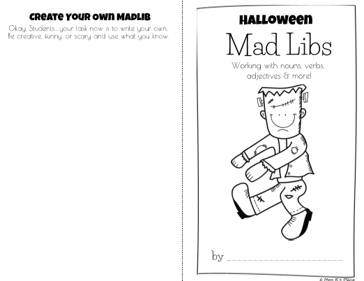 Mad Libs - Writing Activity