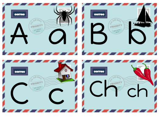 Letter Recognition Post Office Activity (Spanish)