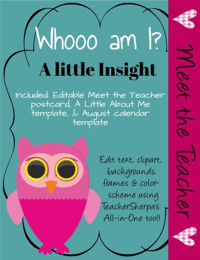 Meet The Teacher Whooo Am I