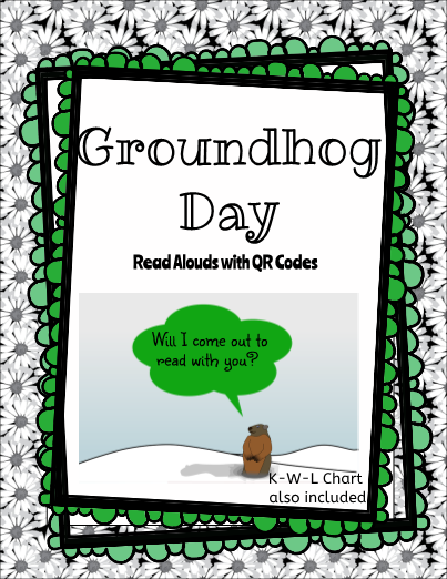 QR Code Groundhog Day Read Alouds for the Listening Center