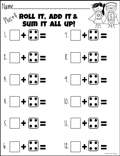Math Addition Practice: Roll It, Add It, Sum It All Up!