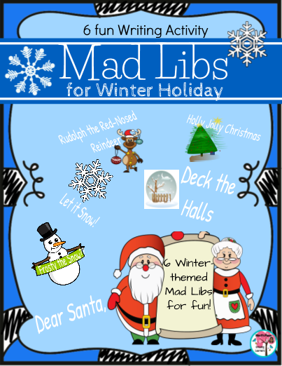 Winter Holiday Mad Libs Writing Activity