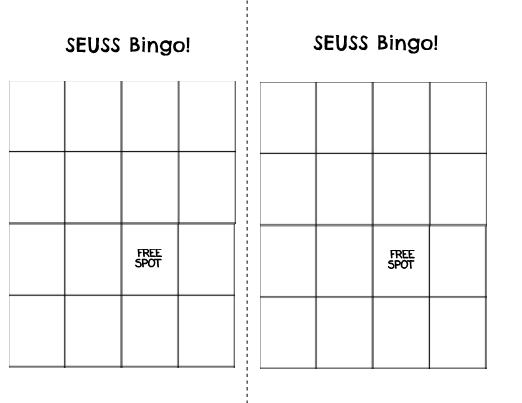 It is a photo of Exceptional Character Bingo Template