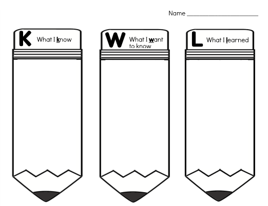 image relating to Printable Kwl Charts called Printable KWL Chart