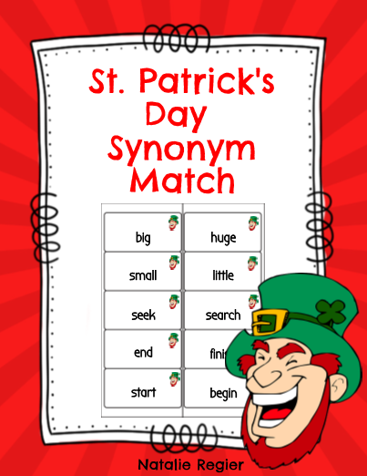 St  Patrick's Day Synonym Match