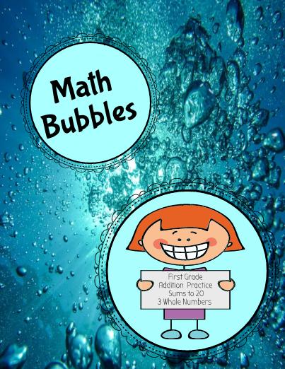 Math Bubbles - First Grade Math Games