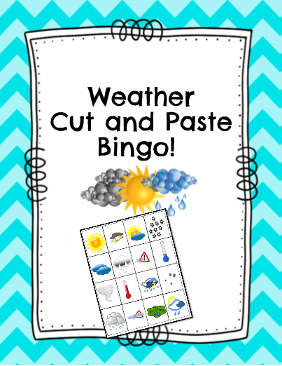 Weather Cut and Paste Bingo!
