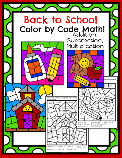 to School Color By Code Math!