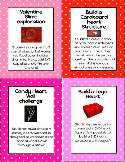 ScienceSTEM Challenge Task Cards – Valentine Cards for Students