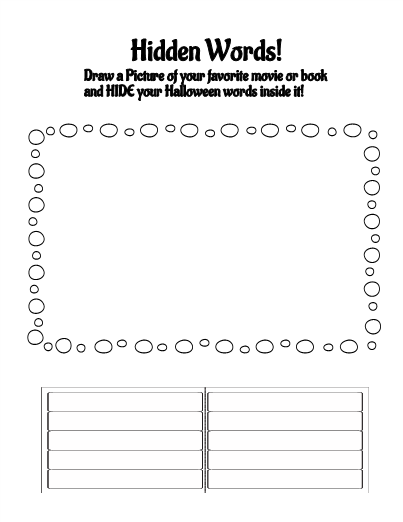 halloween spelling words activities. Black Bedroom Furniture Sets. Home Design Ideas