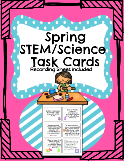 Spring STEM Science Task Cards!