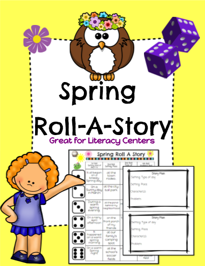 Spring Roll-A-Story!  Great for Literacy Centers!