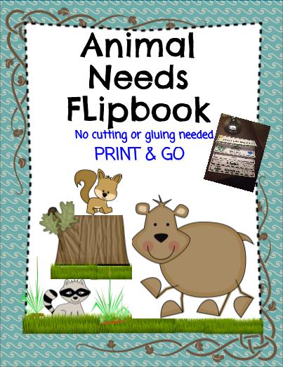 Animal Needs Flip Book