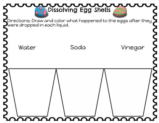 easter science  dissolving egg shells experiment
